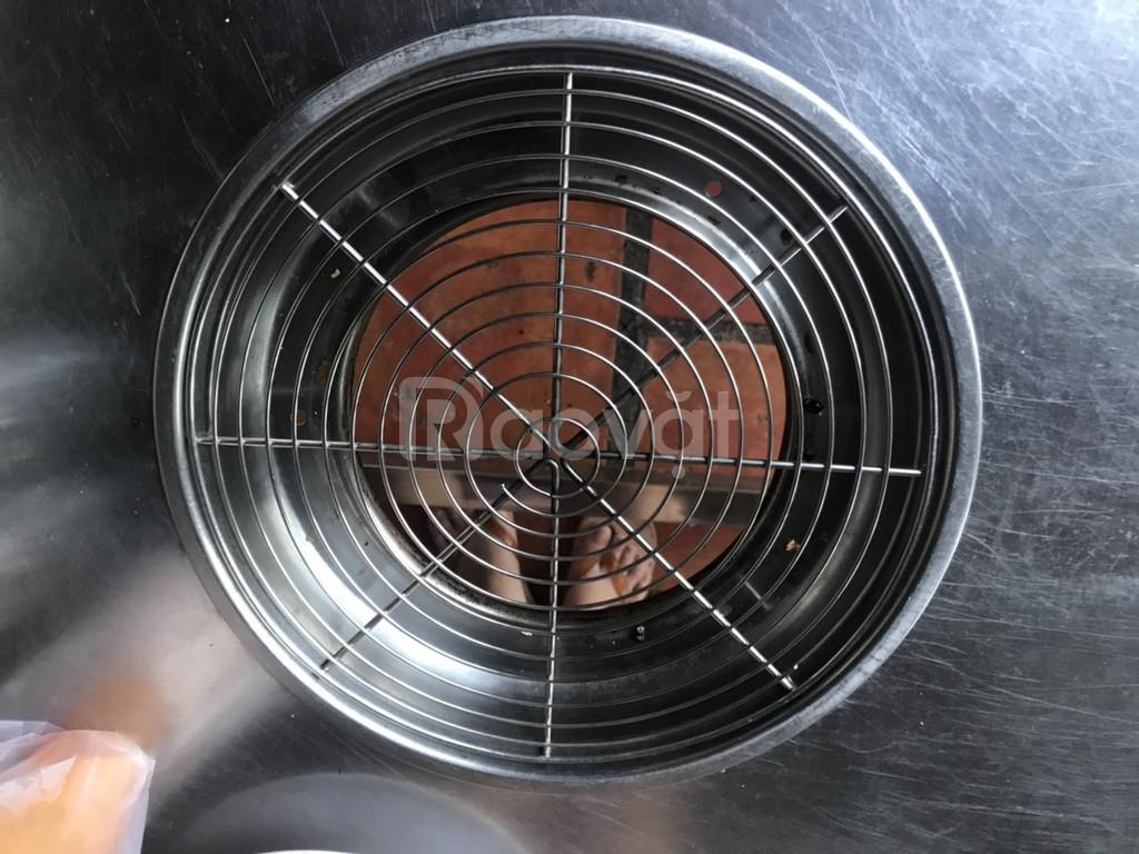 Bếp nướng than hoa inox âm bàn giá rẻ, bếp Phù Đổng