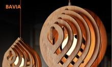 Đèn gỗ thả trần mẫu giọt nước LW1805
