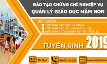 Chứng chỉ nghiệp vụ quản lý mầm non TPHCM 2019