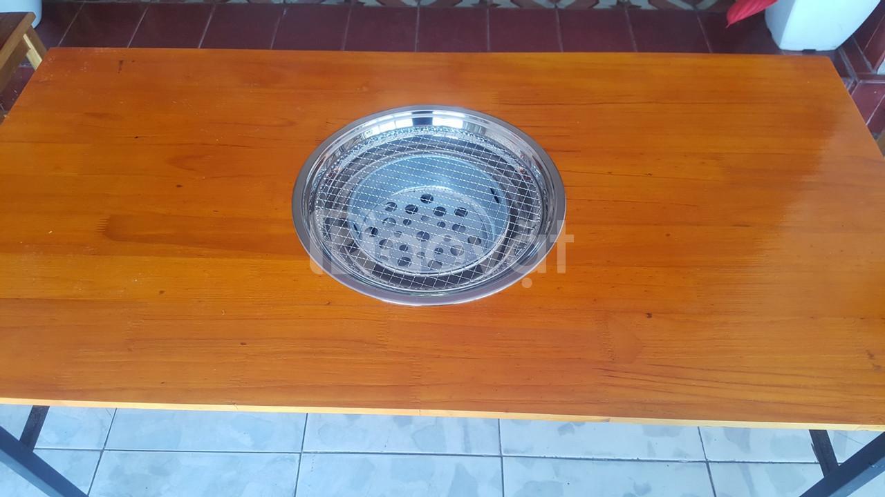 Chuyên cung cấp bếp nướng inox lắp âm bàn kèm vỉ inox 304 có tay cầm