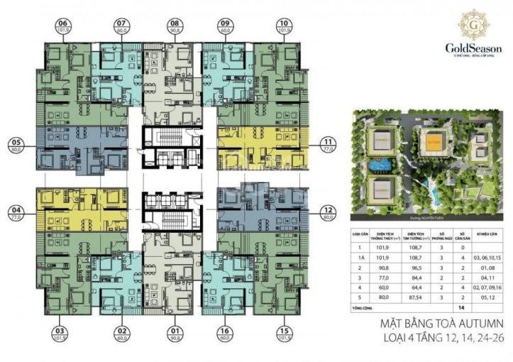 Chính chủ cần bán gấp căn góc 3 ngủ diện tích 101,49m 3 ngủ