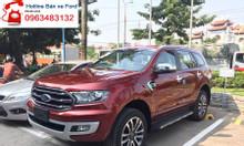 Đại lý bán xe Ford Everest Biturbo 4x4 AT màu đỏ, SUV máy dầu 7 chỗ