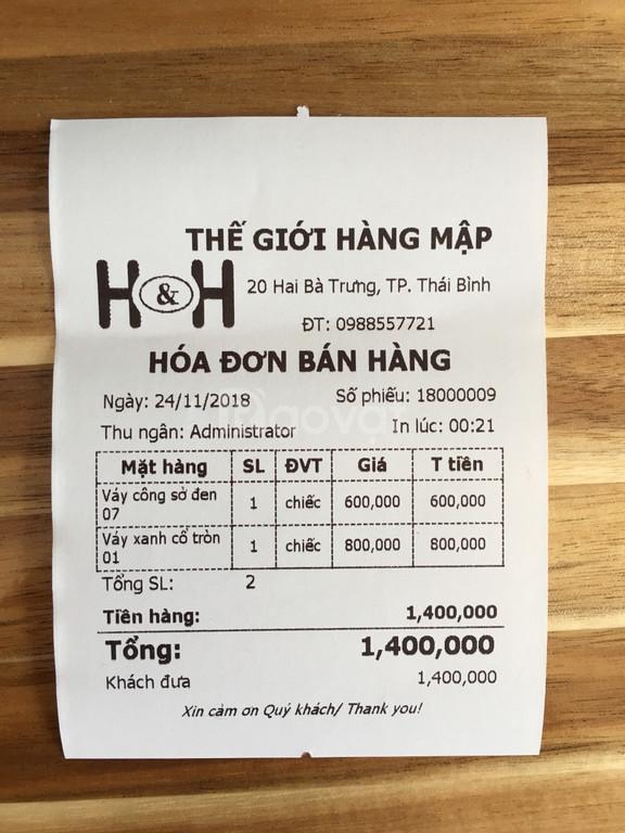 Máy tính tiền giá rẻ  cho shop, tạp hóa tại Hà Nội