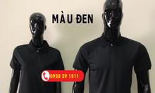 Xưởng cung cấp áo thun cá sấu poly màu đen, áo thun trơn màu đen