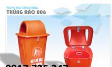 Thùng rác nhựa composite TR006
