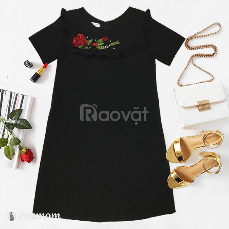 Đầm bầu công sở Eva Mom hoa thủ công cao cấp