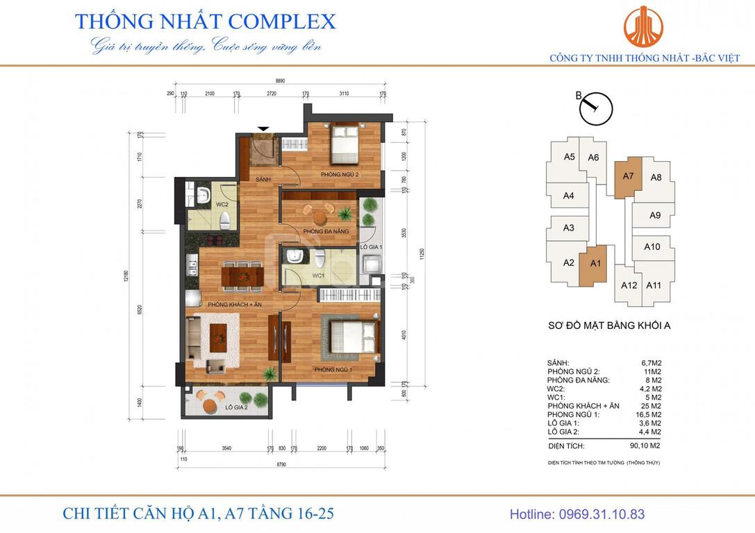 Căn hô 88m2, 3PN TT Quận Thanh Xuân 2.8 tỷ