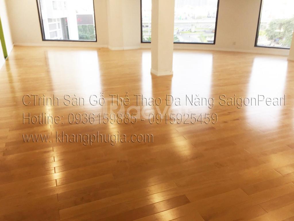 Sàn gỗ  tự nhiên đa năng phòng gym