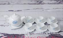 In bộ ấm trà tại Quảng Nam, in ly thủy tinh