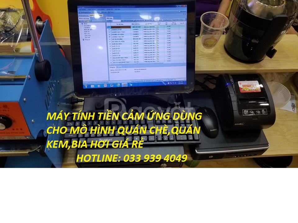 Lắp đặt máy tính tiền cho quán cafe tại phú yên