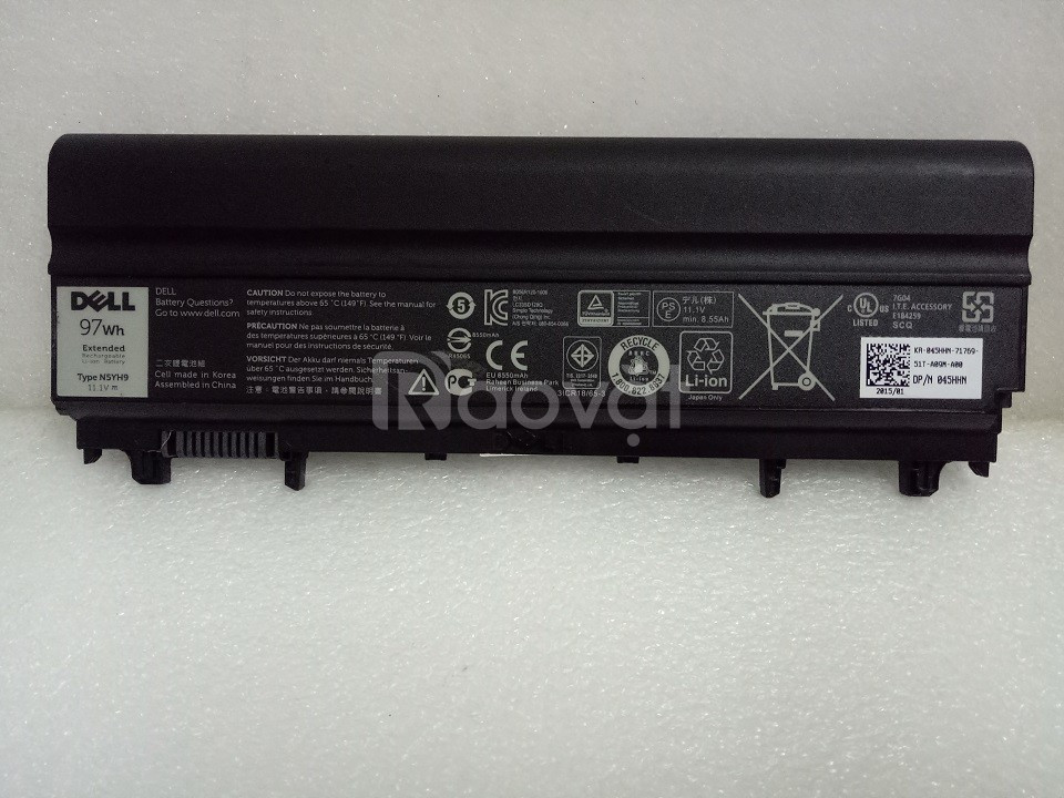 Pin xin laptop 9cells (97wh) Dell Latitude E5440, E5540