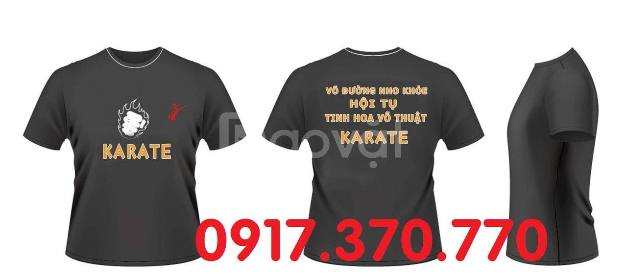 May áo thun clb võ thuật, áo thun karatedo, áo thun teakwondo