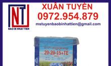 Bao bì đựng phân bón 25kg in ống đồng