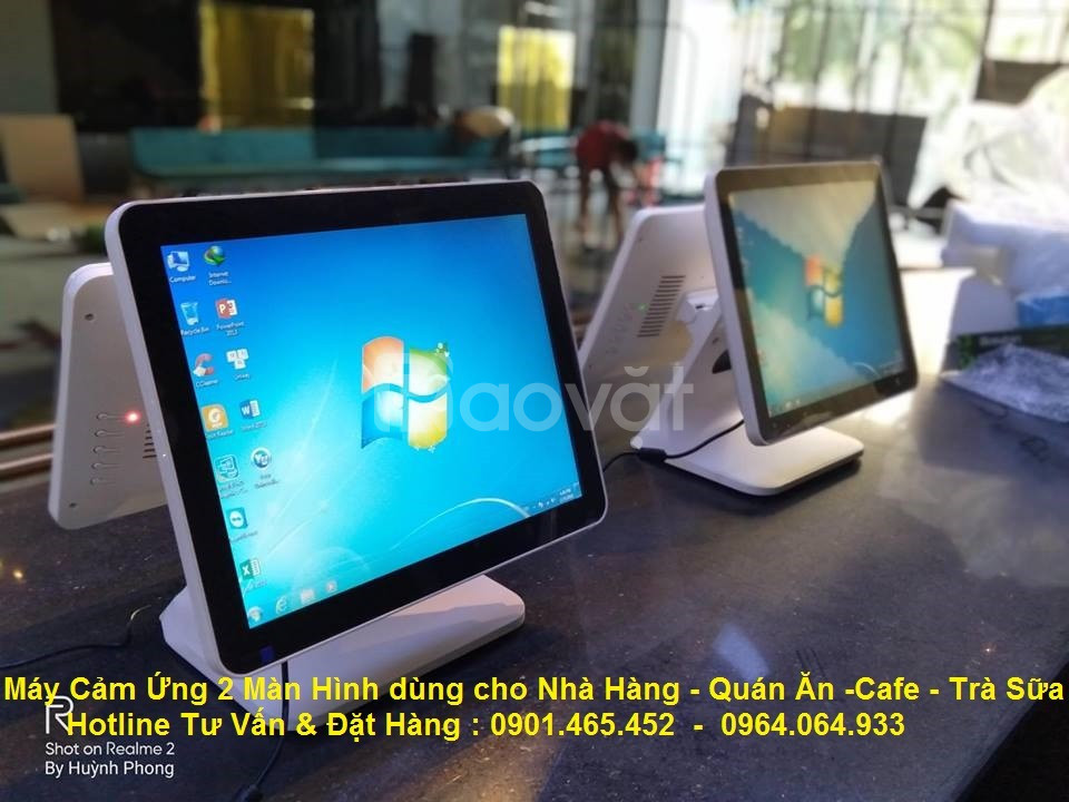 Chuyên cung cấp Máy tính tiền cảm ứng 2 màn hình giá rẻ
