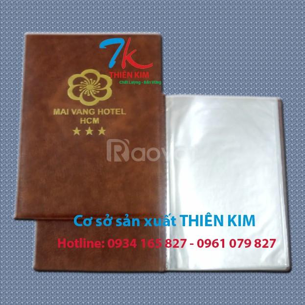 Cơ sở sản xuất bìa da, làm bìa đựng hồ sơ, cung cấp bìa còng, bìa da