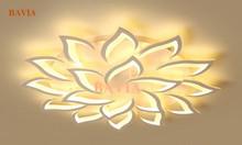 Đèn mâm ốp trần cánh Hoa Trà QN-1290