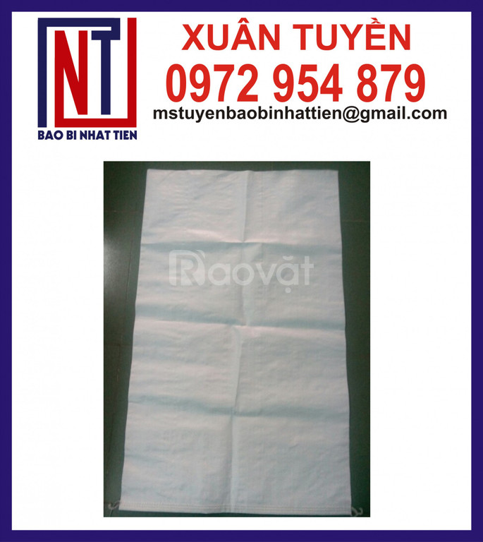 Chuyên cung cấp bao PP trắng trơn đựng gạo