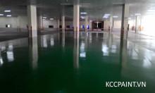 Long An, Tiền Giang mua sơn kcc Epoxy lăn sàn - tự phẳng màu xanh