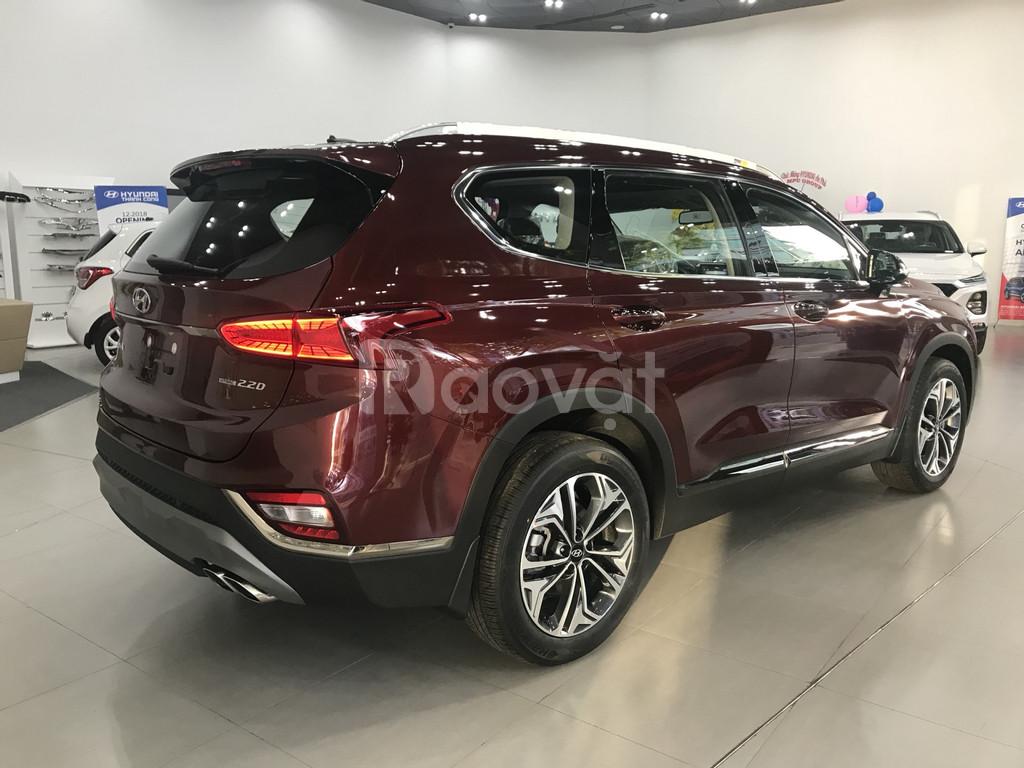 SantaFe 2019, xăng/dầu đặc biệt, màu đỏ giao ngay, Hyundai An Phú