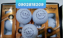 Bóng golf titleist pro v1 in logo làm quà tặng