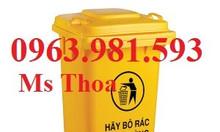 Thùng rác công nghiệp, thùng rác công cộng, thùng rác nhựa 90l, 120l