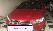 Toyota yaris 1.3 G,sx 2016, mầu đỏ ,nhập khẩu Thái Lan