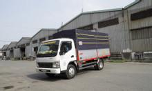Tải FUSO Canter trọng tải 3 tấn 4 thùng bạt dài 4m4 giá tốt, trả góp