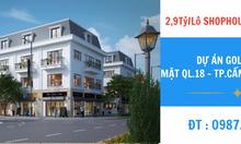 Chỉ 2,9 tỷ/lô Shophouse Đã Xây Thô - Dự Án Vincom Golden Mark Cẩm Phả