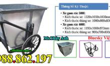Xe rác thùng rác xe gom rác 500l giá rẻ xe gom rác bằng tôn xe gom rác