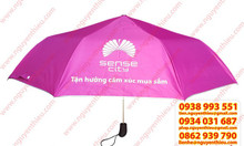 Sản xuất ô dù cầm tay gấp 3 giá rẻ, dù cầm tay in logo quảng cáo