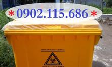 Thùng rác 660L, thùng rác 660 lít, xe gom rác 660L