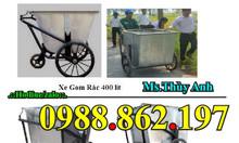 Xe gom rác 500l, xe đẩy rác 400l, xe rác bằng tôn, xe gom rác giá rẻ