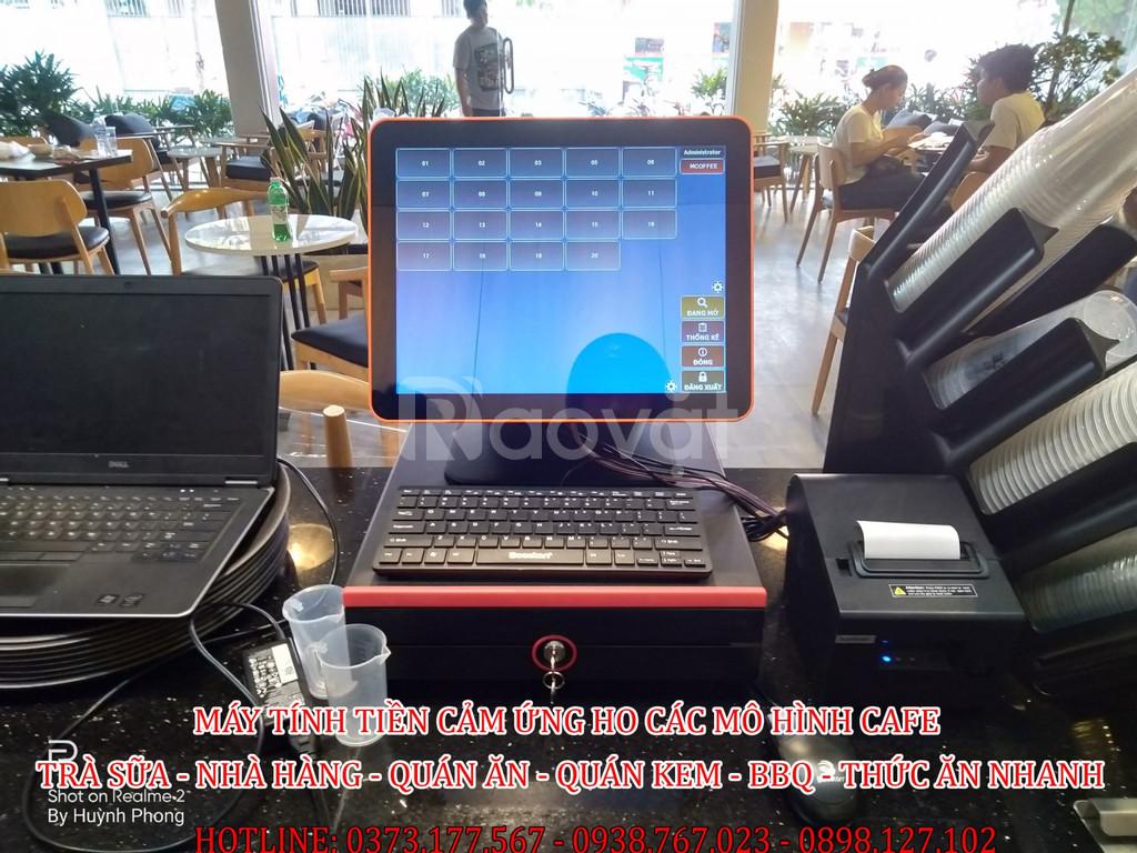 Bán máy máy tính tiền màn hình cảm ứng cho quán coffee, trà sữa