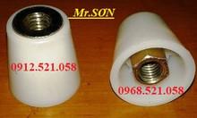 Cốc nhựa chống thấm ren thô ren mịn đai ốc côn thép đặc M12,14,16,17.