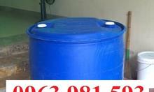 Thùng phuy nhựa 220 lít, thùng phuy nhựa làm bè, thùng phuy nhựa rẻ.