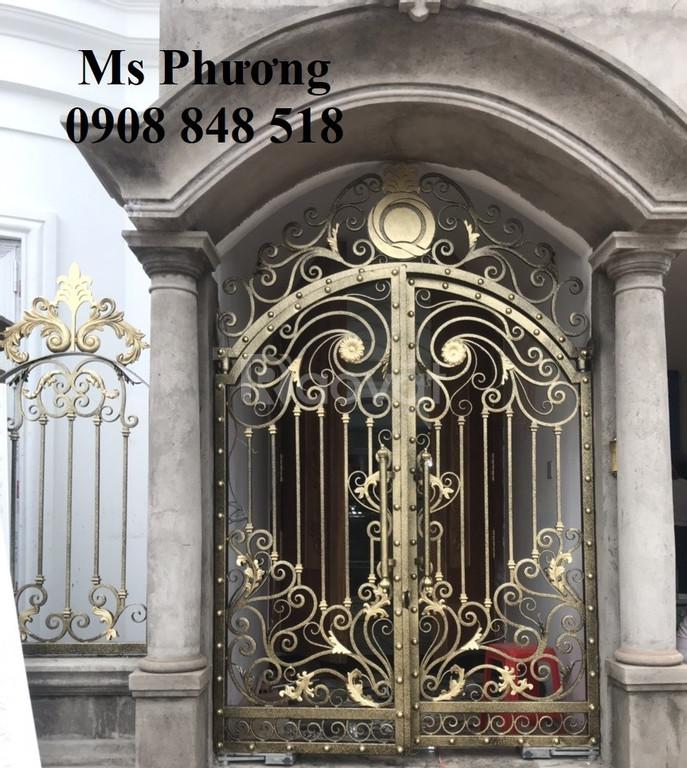 Cổng, cửa, lan can, hàng rào, vách ngăn sắt CNC, sắt uốn nghệ thuật