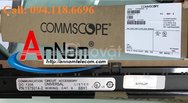 Patch panel 24 port CAT6 Commscope P/N: 1375014-2
