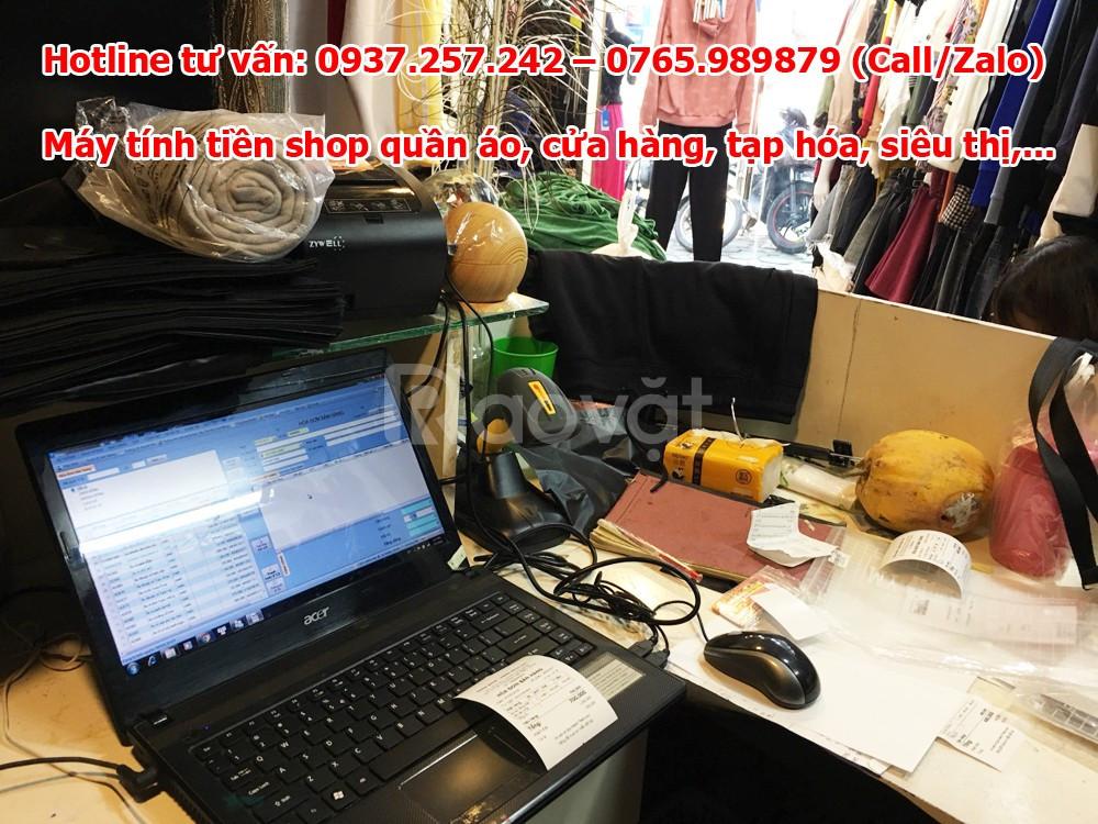 Lắp đặt trọn bộ máy tính tiền in bill thanh toán cho shop quần áo
