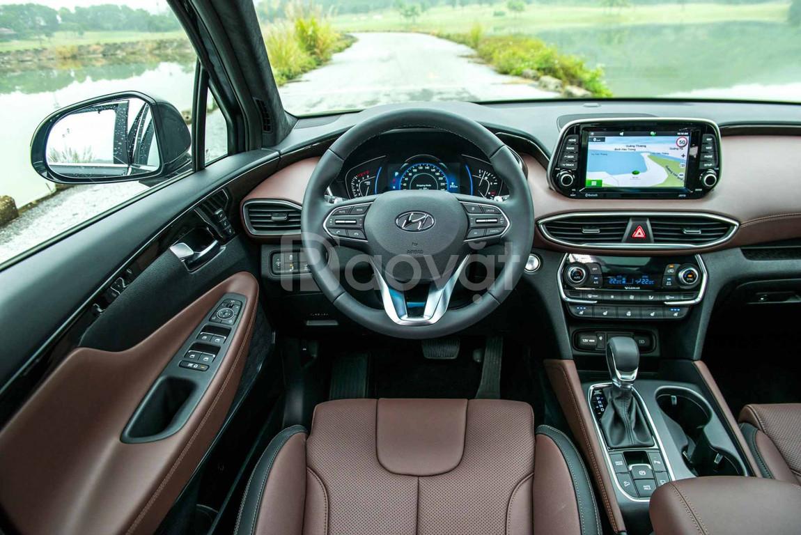 SantaFe 2019, Dầu Premium, màu Đen giao ngay, Hyundai An Phú