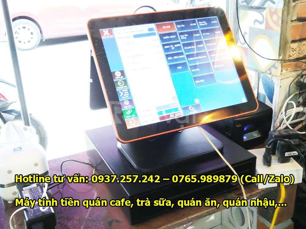 Lắp đặt trọn bộ máy tính tiền in bill thanh toán cho quán cafe