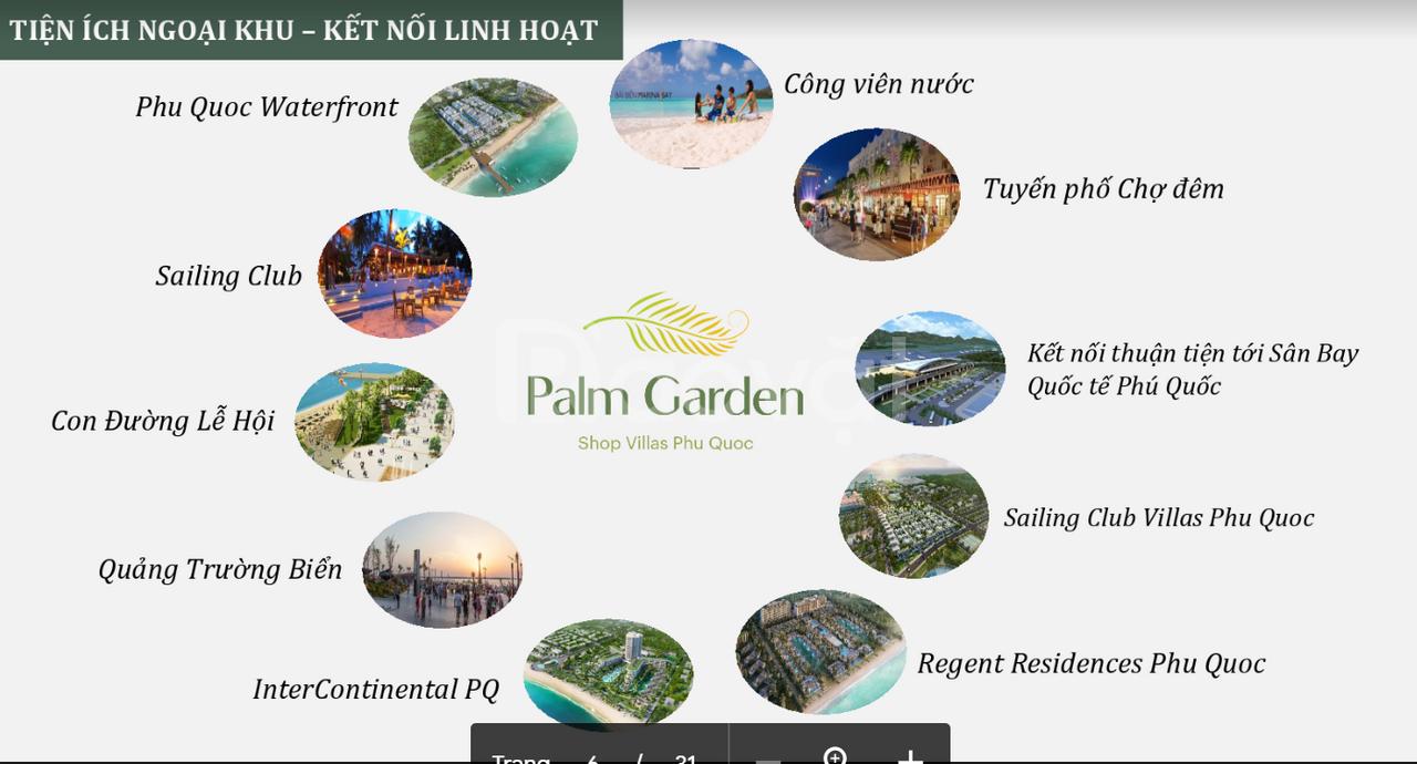 Shop Villas sở hữu lâu dài, tự do kinh doanh, ngay phố đi bộ Phú Quốc