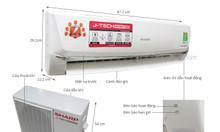 Đại lý bán máy lạnh Sharp AH-X9VEW (1.0Hp) Inverter Gas R32 giá tốt