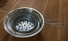 Bếp nướng than hoa inox nắp âm bàn giá rẻ cho quán lẩu nướng bình dân