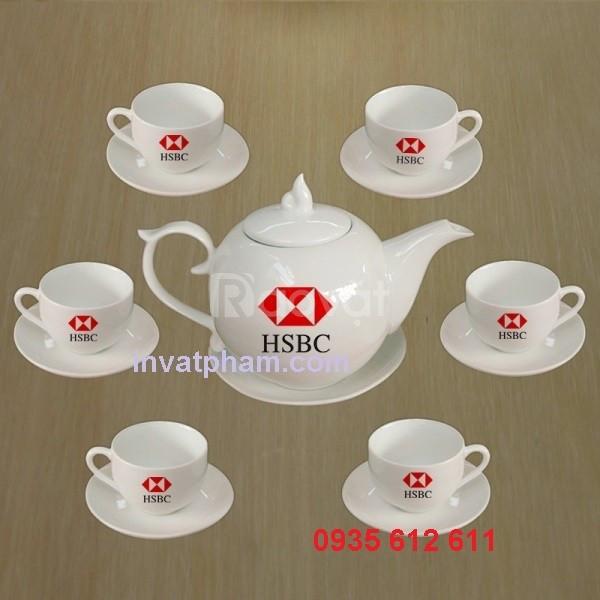 In bộ ấm trà Quảng Nam, In logo tách trà Quảng Nam