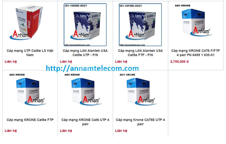 Tổng phân phối sỉ lẻ giá rẻ cáp cat5/cat6/cat6A /cat7-utp/ftp/sstp/sf