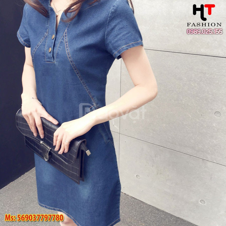 Cửa hàng thời trang bigsize HT-Fashion - Váy đầm jean bigsize