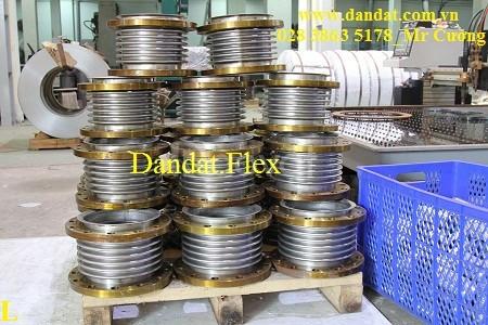 Ống ruột gà bọc lưới inox, khớp chống rung inox, khớp nối mềm mặt bích