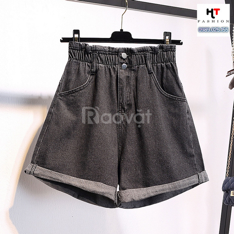Thời trang bigsize HT-Fashion - Quần sooc jean lưng chun big size