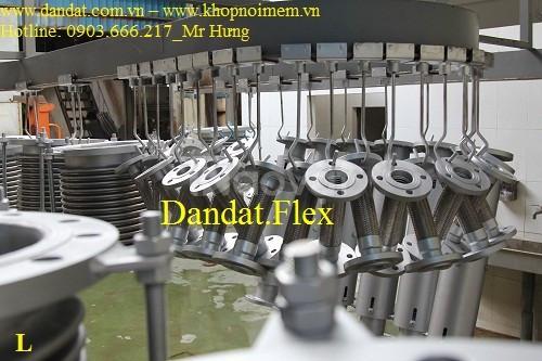 Nhãn hiệu Dandat.Flex - Khớp nối mềm inox nối bích, ống nối mềm inox