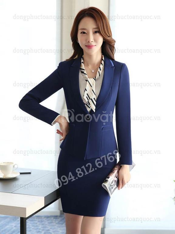 Xưởng may đồng phục áo vest nữ cao cấp - May kĩ, hàng đẹp, Giá tốt